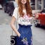 Lady Lizzy Casual Holiday Flower Denim Skirt Set thumbnail 2