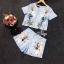 Lady Ribbon ออนไลน์ เสื้อผ้าออนไลน์ พร้อมส่งของแท้ SV07130716 &#x1F389Sevy Two Pieces Of Nail Design Blouse with Shorts Sets thumbnail 5