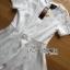 Lady Ribbon Online ขายส่งเสื้อผ้าออนไลน์เลดี้ริบบอน LR13010816 &#x1F380 Lady Ribbon's Made &#x1F380 Lady Diana Feminine Pure White Lace and Polyester Dress เดรสผ้าโพลี thumbnail 7