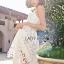 Lady Ribbon Online เสื้อผ้าออนไลน์ขายส่ง Lady Ribbon เสื้อผ้า LR07180816 &#x1F380 Lady Ribbon's Made &#x1F380 Lady Olivia Pure and Classic Strappy White Lace Dress thumbnail 4