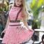เดรสผ้าลูกไม้สีชมพู Pink Color thumbnail 2