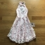 Lady Ribbon Ashley Pretty Feminine Butterfly-Embroidered Pearl Embellished Pink Dress thumbnail 5