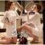 Lady Ribbon Online เสื้อผ้าออนไลน์ขายส่ง very very pretty เสื้อผ้า VP01140816 Luxury Lace White embroidery see-through Dress thumbnail 2