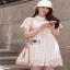 Lady Feona Feminine Collared Lace Shirt Dress thumbnail 6