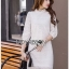 Lady Diamond Sweet Style High-Neck White Lace Dress thumbnail 5