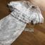 Lady Ribbon Ruffle Lace Dress เดรสชีฟองสีขาว thumbnail 5