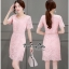 เสื้อผ้าเกาหลีเดรสลูกไม้เนื้อสวยหวาน thumbnail 3