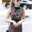 Lady Ribbon Online ขายส่งเสื้อผ้าออนไลน์ Lady Ribbon พร้อมส่ง LR17040816 &#x1F380 Lady Ribbon's Made &#x1F380 Lady Taylor Red-Green Graphic Printed Sleeveless Maxi Dress thumbnail 3