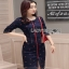 Denim Mini Dress Lady Ribbon มินิเดรสผ้าเดนิม thumbnail 2