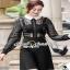 Girly Chiffon-Lace Blouse เสื้อทรงสวยลุคสาวผู้ดีแบบสาวยุโรป thumbnail 1