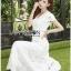 Lady Ribbon Online ขายส่งเสื้อผ้าออนไลน์ เลดี้ริบบอน LR07280716 &#x1F380 Lady Ribbon's Made &#x1F380 Lady Hana Classic Feminine Lace Maxi Dress in White thumbnail 5
