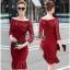 Red Lace Dress เดรสแฟชั่นผ้าลูกไม้ทั้งตัว thumbnail 1