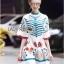 Printed Ruffle-Sleeve Dress เดรสผ้าเครป thumbnail 1
