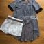 Lady Ribbon Striped Belt Set เซ็ตเสื้อผ้าชีฟองลายทาง thumbnail 5