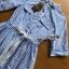 Lady Christine Striped Blue & White thumbnail 4