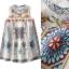 Lady Ribbon Online เสื้อผ้าออนไลน์ขายส่ง Normal Ally เสื้อผ้า NA09180816 &#x1F389Normal Ally Present elegance embroider flower asian organza style dress&#x1F389 thumbnail 6