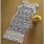 เสื้อผ้าแฟชั่น Maxi Dress แมกซี่เดรสผ้าลูกไม้ see-throughเสื้อผ้าแฟชั่นออนไลน์ thumbnail 3