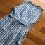Lady Striped Sleeveless Dress with Ribbon เดรสผ้าเครป thumbnail 10