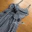 Back-Ribbon Checked Dress Lady Ribbon เดรสสายเดี่ยว thumbnail 6