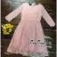 สีชมพูชุดเดรสเกาหลีแขนยาว thumbnail 4