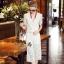Lady Ribbon Online เสื้อผ้าออนไลน์ขายส่ง Normal Ally เสื้อผ้า,NA12220816 &#x1F389Normal Ally Present Gucci new autumn collection 2016 V-neck shirt and wide leg pant lace set&#x1F389 (เสื้อ+ กางเกงผ้าลูกไม้ , มีซับในอย่างดีทั้งชุด) thumbnail 4