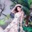 ชุดเดรสดอกเกาหลีผ้าจอร์เจียร์ thumbnail 4