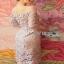 Lady Ribbon Organza and Guipure Lace Dress thumbnail 4