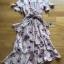 Lady Ribbon Zig-Zag Crepe Dress thumbnail 7