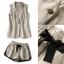 NA14290816 &#x1F389Normal Ally Present Casual cotton linen Blazer and short set&#x1F389 (Blazer + กางเกง , มีซับในอย่างดี) thumbnail 7
