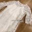 Lady Ribbon White Lace Dress thumbnail 9