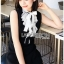 Ruffle-Neck Sleeveless Lady Ribbon Black Dress thumbnail 2