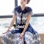 SS15010916 Seoul Secret Say's... Fashionista Navaly Blossom Set Material : เซ็ทเก๋ๆ สไตล์สาวแฟชั่นเก๋ๆ หวานๆ thumbnail 5