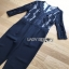 Lady Ribbon Black Lace Jumpsuit จัมป์สูทขายาว thumbnail 5