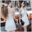 Suit Dress Lady Ribbon สูทเดรสสีขาว thumbnail 2