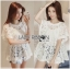 Lady Ribbon Online ขายส่งเสื้อผ้าออนไลน์ ขายส่งของแท้พร้อมส่ง Lady Ribbon LR15250716 &#x1F380 Lady Ribbon's Made &#x1F380 Lady Romy Romantic White Guipure Lace and Cotton Top thumbnail 1