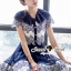 SS15010916 Seoul Secret Say's... Fashionista Navaly Blossom Set Material : เซ็ทเก๋ๆ สไตล์สาวแฟชั่นเก๋ๆ หวานๆ thumbnail 4