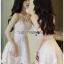 Lady Ribbon Mini Dress มินิเดรสผ้าลูกไม้สีครีมอ่อน thumbnail 5