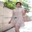 Lady Feona Feminine Collared Lace Shirt Dress thumbnail 5
