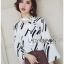 Lady Carlie Graphic Cut-Out Flared-Sleeve Top thumbnail 3