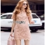 Lady Ribbon Pink Lace Mini Dress มินิเดรสสีชมพู thumbnail 4