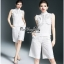 เสื้อเขนกุดลุคก์เกาหลีสีขาว thumbnail 2