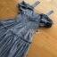 Chic Ruffle Checked Lady Ribbon Cotton Dress thumbnail 5