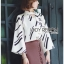 Lady Carlie Graphic Cut-Out Flared-Sleeve Top thumbnail 5