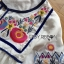 Lady Ribbon Online ขายส่งเสื้อผ้าออนไลน์เลดี้ริบบอน LR08010816 &#x1F380 Lady Ribbon's Made &#x1F380 Lady Alexandria Country Feminine Flower Embroidered Button-Down Cotton Dress thumbnail 4
