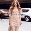 Lady Ribbon Pink Lace Mini Dress มินิเดรสสีชมพู thumbnail 3