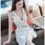 Suit Dress Lady Ribbon สูทเดรสสีขาว thumbnail 4