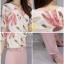 สื้อผ้าแฟชั่นเกาหลีพร้อมส่งเสื้อแบบคอปกผ้าชีฟองเนื้อหนา thumbnail 4