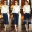 Normal Ally Present Casual Lace autumn set&#x1F389 (เสื้อ + กางเกง, มีซับใน) thumbnail 1
