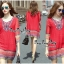 Lady Ribbon Online เสื้อผ้าออนไลน์ ขายส่ง VP01110717 Bohemian Red-Chiffon Colorful beads Embroidery Blouse thumbnail 1