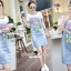 SS19010916 Seoul Secret Say's... Smurffy Chic Denim Dress Material : น่ารักๆ สดใสสไตล์คุณหนู thumbnail 1
